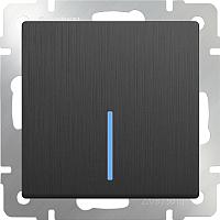 Выключатель Werkel WL04-SW-1G-LED / a046615 (графит рифленый) -