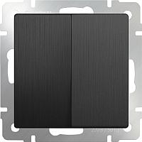 Выключатель Werkel WL04-SW-2G-2W / a046617 (графит рифленый) -