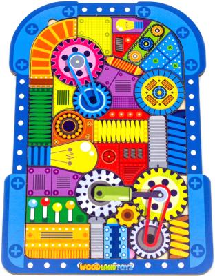Развивающая игрушка WoodLand Toys Пазл-головоломка. Механизмы / 137104