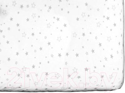 Простыня детская Martoo Comfy-3 / СM3-1-WT-GRST (серые звезды на белом)