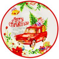 Блюдо для торта ZPX Collection Рождественский вояж / ZPX18485 (с лопаткой) -