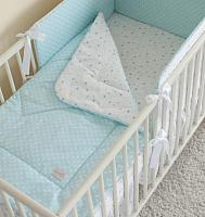 Одеяло детское Martoo Basik / BS-BL/GR (голубой/серый/звезды на белом) -