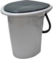 Ведро-туалет Ingreen Smart Solution / ING30001МР-7РS (белый мрамор) -