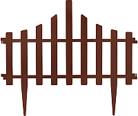 Изгородь декоративная Алеана Заборчик 114042 (темно-коричневый) -