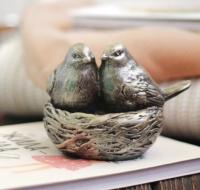 Статуэтка Нашы майстры Птички в гнездышке 7001 (декорированная) -