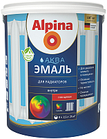 Эмаль Alpina Аква для радиаторов (900мл) -