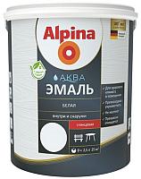 Эмаль Alpina Аква (2.5л, шелковисто-матовый белый) -