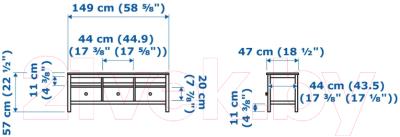 Тумба Ikea Хемнэс 103.842.67