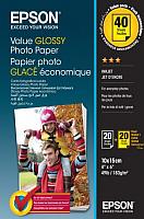 Фотобумага Epson Value Glossy Photo Paper 10х15 20лx2 (C13S400044) -