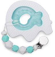 Прорезыватель для зубов Happy Baby Силиконовый / 20003 (White/Mint) -