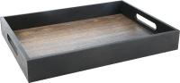 Поднос Grifeldecor Дуб с черными бортами / BZ182-8B180 -