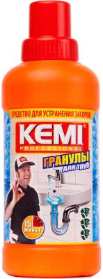 Средство для устранения засоров Kemi Professional гранулы (500г)