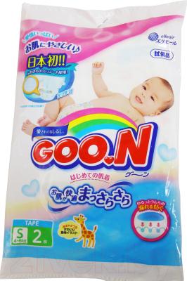 Подгузники детские Goo.N S 4-8кг (2шт)