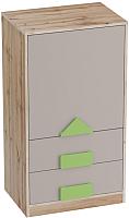 Тумба Мебельград Марио с дверцей и ящиками (дуб вотан) -