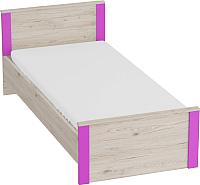 Каркас кровати Мебельград Скаут (дуб бонифаций/софт тач фуксия) -