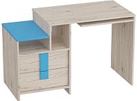Письменный стол Мебельград Скаут (дуб бонифаций/софт тач индиго) -