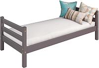 Односпальная кровать Мебельград Соня вариант 1 (массив сосны лаванда) -