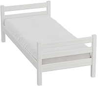 Односпальная кровать Мебельград Соня вариант 1 (массив сосны белый) -