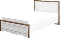 Полуторная кровать Мебель-Неман Тиволи МН-035-25-120 (белый структурный/дуб стирлинг) -