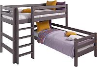 Двухъярусная кровать Мебельград Соня вариант 7 (массив сосны лаванда) -