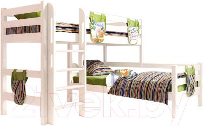 Двухъярусная кровать детская Мебельград Соня вариант 7
