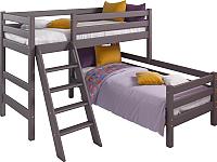 Двухъярусная кровать Мебельград Соня вариант 8 (массив сосны лаванда) -
