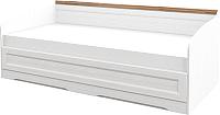 Кровать-тахта Мебель-Неман Тиволи МН-035-32 (белый структурный/дуб стирлинг) -