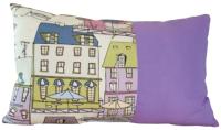 Подушка декоративная Мебельград Соня малая 35x60 (кэнэлс сиреневый/панама песко сиреневый) -
