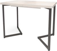 Обеденный стол Millwood Лофт Лондон Л 100-140x60x76 (дуб белый Craft/металл черный) -