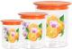 Набор емкостей для хранения Альтернатива Экзотика М603 (оранжевый) -