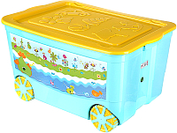 Ящик для хранения Эльфпласт KidsBox EP449 (бирюзовый) -
