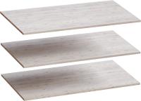 Комплект полок для шкафа Мебельград Для 4-х дверного Соренто 196.5x54.5 (3шт, дуб бонифаций/кофе структурный матовый) -