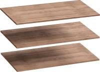 Комплект полок для шкафа Мебельград Для 4-х дверного Соренто 196.5x54.5 (3шт, дуб стирлинг/кофе структурный матовый) -