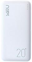 Портативное зарядное устройство Miru LP-3011 20000mAh (белый) -