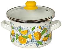Кастрюля Сантэкс Апельсин 1-2215112 (белый) -