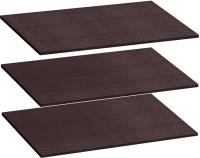 Комплект полок для шкафа Мебельград Для 2-х дверного Виго 92х56 (3шт, венге) -