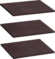 Комплект полок для шкафа Мебельград Для пенала Виго 46х56 (3шт, венге) -