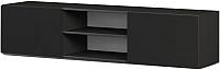 Тумба Мебель-КМК 2Д Альда 0782.6 (черный глянец) -