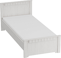 Каркас кровати Мебельград Прованс 900 в спальню 90x200 (бодега белая/платина премиум) -