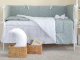 Комплект постельный в кроватку Martoo Basik Comfy 6 / CM-BS-6-GR/WT-ST (белый/серый, звезды) -