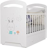 Детская кроватка VDK Lucy маятник и ящик (белый) -