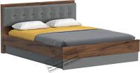 Каркас кровати Мебельград Глазго 160x200 (таксония/пегас грей/графит) -