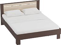 Каркас кровати Мебельград Женева 140x200 (венге/дуб молочный) -
