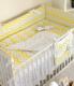 Комплект постельный в кроватку Martoo Comfy Basik 7 / CM-BS-7OR-YGZ (желтый/серый, зигзаг) -