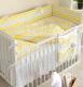 Комплект постельный в кроватку Martoo Comfy 3 / CM-3-YGZ (желтый/серый, зигзаг) -
