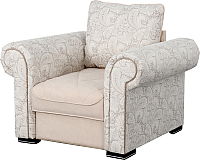 Кресло мягкое Мебельград Цезарь (лорд бежевый/авокадо бежевый) -