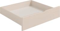 Ящик под кровать Мебельград Соня (массив сосны белый/лиственница сибирская/айс 06) -