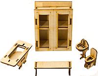 Комплект аксессуаров для кукольного домика Теремок Ванная комната / КМ-1 -