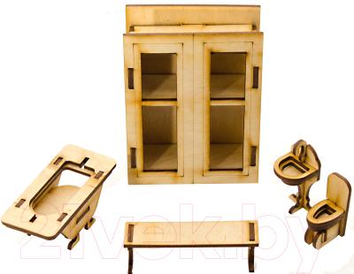 Комплект аксессуаров для кукольного домика Теремок Ванная комната / КМ-1