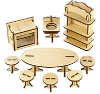 Комплект аксессуаров для кукольного домика Теремок Кухня / КМ-4 -